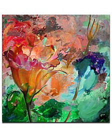 'Painted Petals LXI' Canvas Wall Decor