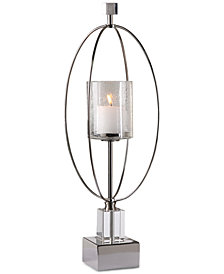 Uttermost Tamra Polished Silver Candle Holder