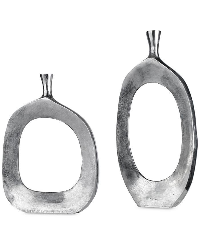 Uttermost - Cierra Aluminum Vases, Set of 2