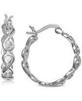 ea0cec6ed Giani Bernini Small Decorative Hoop Earrings in Sterling Silver, 0.8
