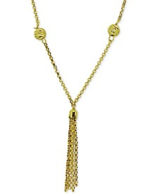 "Giani Bernini Tassel 18"" Lariat Necklace, Created for Macy's"