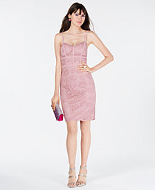B Darlin Juniors' Lace Bodycon Dress