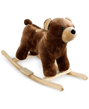 Trademark Global Happy Trails Barry Bear Plush Rocking Animal with Sounds