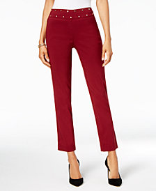 JM Collection Studded Tummy-Control Pants, Created for Macy's