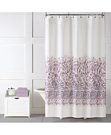 "Saturday Knight Elegance Textured Printed 70"" x 72"" Shower Curtain"