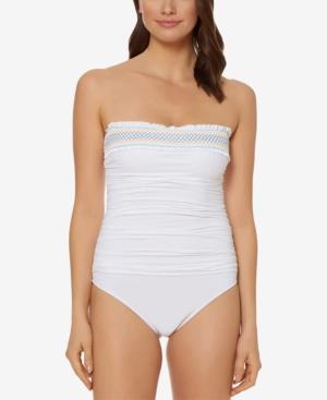 Bleu By Rod Beattie Smocked One-Piece Swimsuit Women's Swimsuit