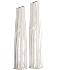 Uttermost Kenley Crackled White Vases, Set of 2