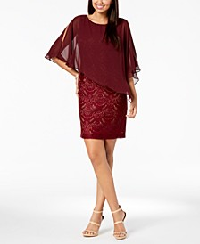 Lace & Chiffon Popover Dress