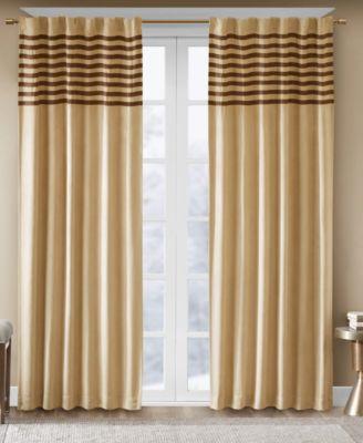"""Dune Microsuede Stripe Pair of 42"""" x 63"""" Window Panels"""