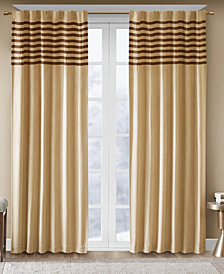 "Madison Park Dune Microsuede Stripe Pair of 42"" x 63"" Window Panels"