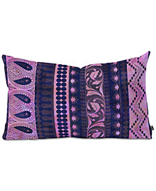 Deny Designs Schatzi Brown Bodhi Bohemian Stripe Purple Oblong Throw Pillow