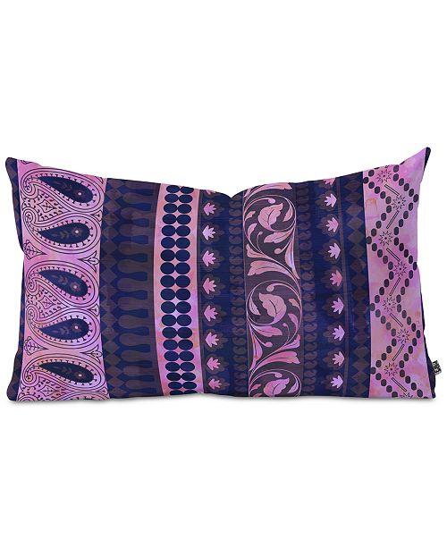 Deny Designs Schatzi Brown Bodhi Bohemian Stripe Purple Oblong Throw Pillow
