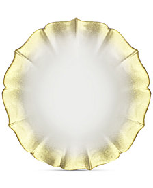 Jay Imports American Atelier Contessa Gold/Pearl-Tone Charger Plate