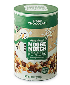 Harry & David's Dark Chocolate Moose Munch Gourmet Popcorn Holiday Canister