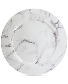 Jay Imports American Atelier Marble White & Gray 4-Pc. Charger Plate Set