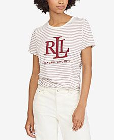 Lauren Ralph Lauren Petite Logo-Graphic T-Shirt