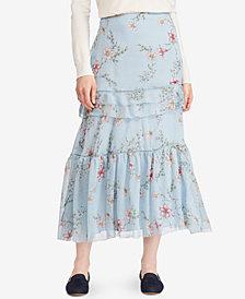 Lauren Ralph Lauren Petite Floral-Print Maxiskirt
