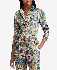 Lauren Ralph Lauren Petite Floral-Print Twill Shirt