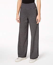 Calvin Klein Performance Micro-Stripe Wide-Leg Pants