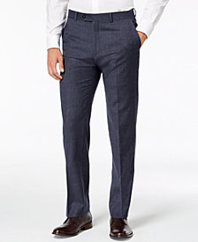 Tommy Hilfiger Men's Modern-Fit TH Flex Stretch Light Blue Plaid Suit Pants