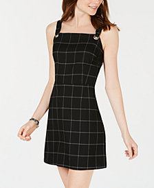 Be Bop Juniors' Plaid Grommet Dress