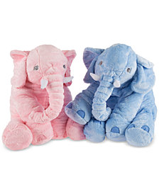 Plush Stuffed Elephant Animal Pillow  Collection by Happy Trails