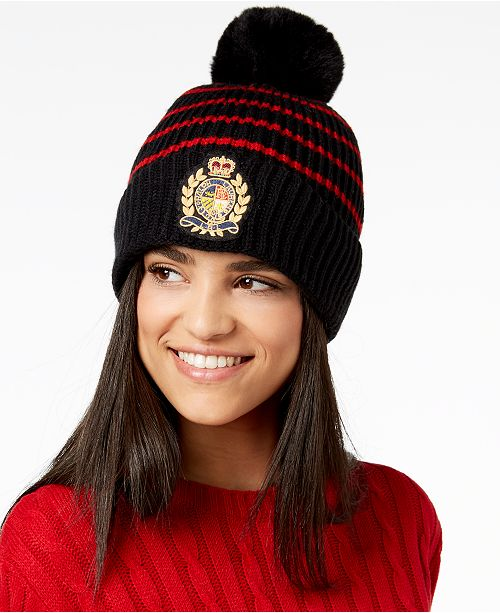 c03ea70deb910 Lauren Ralph Lauren Logo-Patch Ribbed Knit Hat   Reviews ...