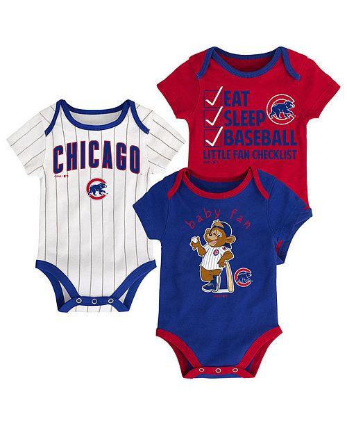 8738bec9a Outerstuff Chicago Cubs Play Ball 3-Piece Set, Infants (0-9 Months ...