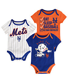 Outerstuff New York Mets Play Ball 3-Piece Set, Infants (12-24 Months)