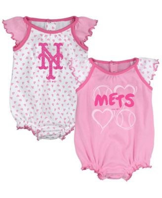 OuterStuff Ohio State Infant Girl Ruffled Bodysuit Set
