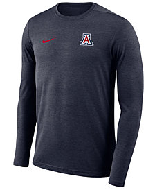 Nike Men's Arizona Wildcats Long Sleeve Dri-Fit Coaches T-Shirt