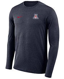 Nike Men's Arizona Wildcats Long Sleeve Dri-Fit Coaches T-Shirt