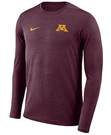 Nike Men's Minnesota Golden Gophers Long Sleeve Dri-Fit Coaches T-Shirt
