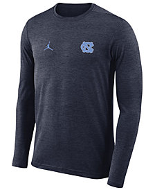 Nike Men's North Carolina Tar Heels Long Sleeve Dri-Fit Coaches T-Shirt