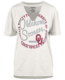 Royce Apparel Inc Women's Oklahoma Sooners Cutout V-Neck T-Shirt