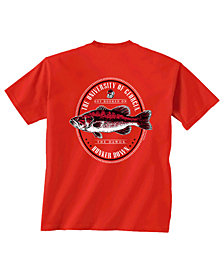 Retro Brand Men's Georgia Bulldogs Fishing Graphic T-Shirt