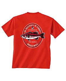 Retro Brand Men's Georgia Bulldogs Fishing Graphic T-Shirt