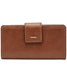 Women's Logan Leather Tab Clutch Wallet