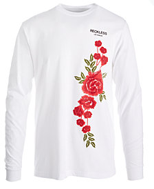 Young & Reckless Men's Floral Graphic Cotton T-Shirt