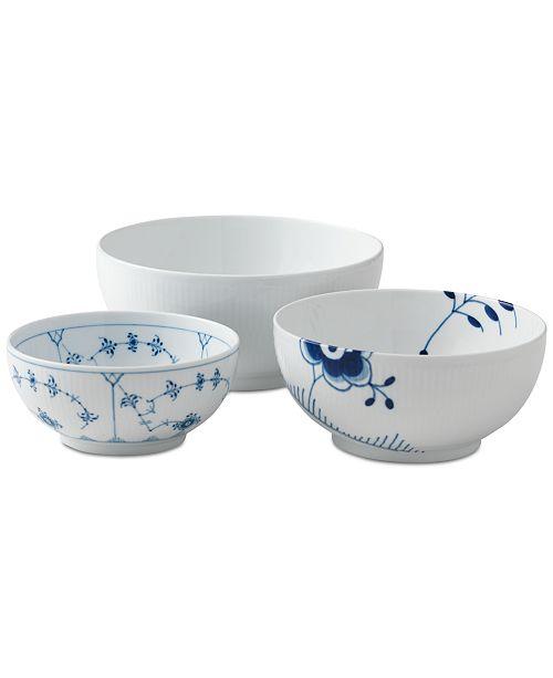 Royal Copenhagen History Mix Bowls, Set of 3