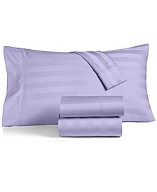 "1.5"" Stripe Queen 4-Pc Sheet Set, 550 Thread Count 100% Supima Cotton, Created for Macy's"