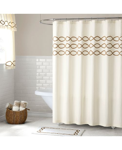 Lamont Linden Cotton Extra Long 72 X 96 Shower Curtain
