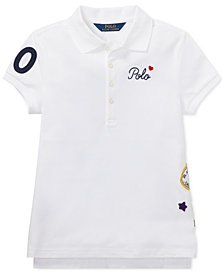 Polo Ralph Lauren Big Girls Patchwork Stretch Piqué Polo Shirt