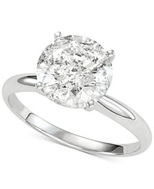 Diamond Solitaire Engagement Ring (3 ct. t.w.) in 14k White Gold