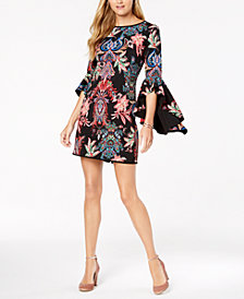 Laundry by Shelli Segal Reversible Bell-Sleeve Dress