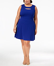 Fox & Royal Trendy Plus Size Cutout A-Line Dress