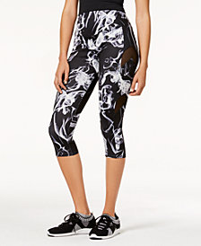 Material Girl Juniors' Mesh-Inset Cropped Leggings, Created for Macy's