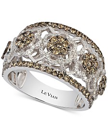 Le Vian Chocolatier® Diamond Openwork Ring (1-1/3 ct. t.w.) in 14k White Gold
