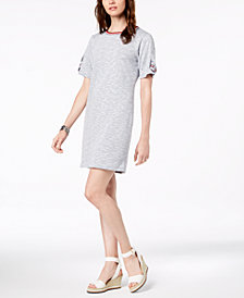 Tommy Hilfiger Tie-Sleeve Dress, Created for Macy's