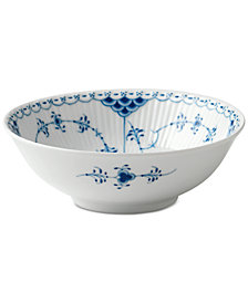 Royal Copenhagen Blue Fluted Half Lace Cereal Bowl